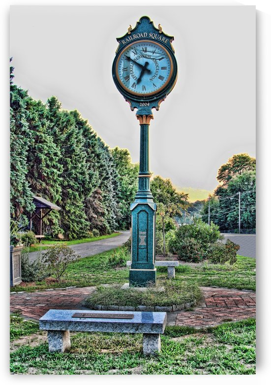 Railroad Square clock by Mona Martin