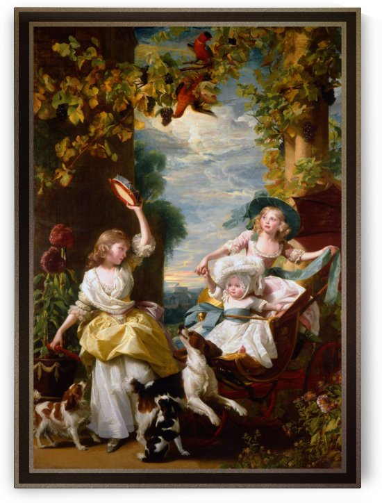 The Three Youngest Daughters of George III by John Singleton Copley by xzendor7