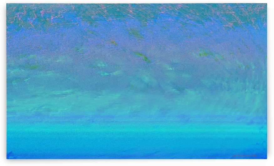 Blue Ocean Abstract by Lutz Roland Lehn