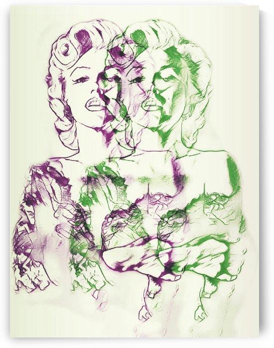 Marilyn Monroe double soul by Ivan Venerucci Italian Style