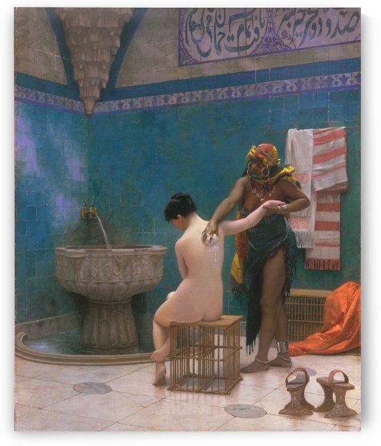 Oriental bath painting by Jean-Leon Gerome