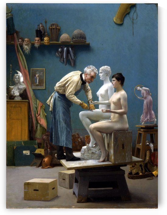 The artists model by Jean-Leon Gerome
