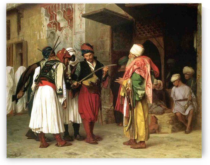 Old Clothing Merchant in Cairo by Jean-Leon Gerome