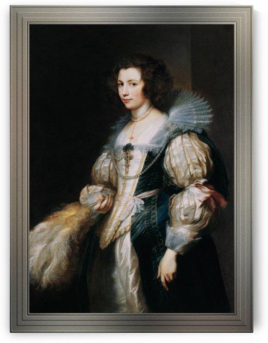 Portrait of Marie-Louise de Tassis by Anthony van Dyck by xzendor7