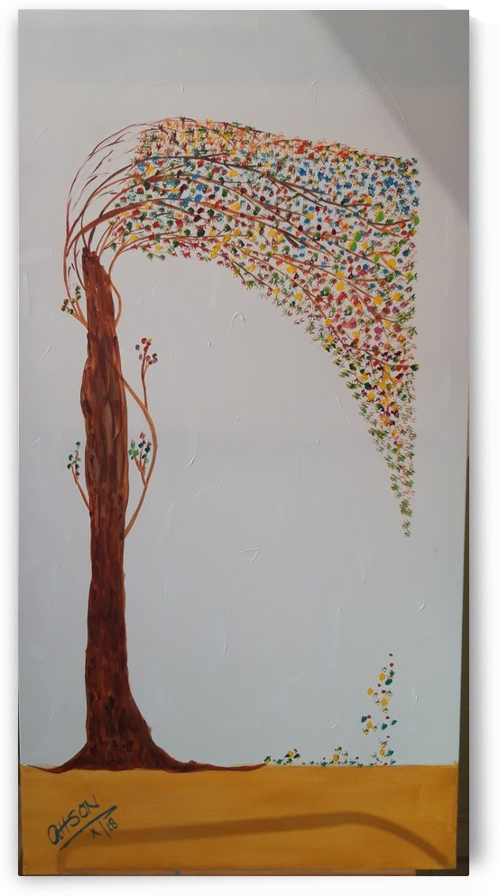 Ahson_Qazi_Geometrical_ abstract artahson_qaziShades_of_Divinityabstract Artstretched canvass 24x48 by Ahson Qazi