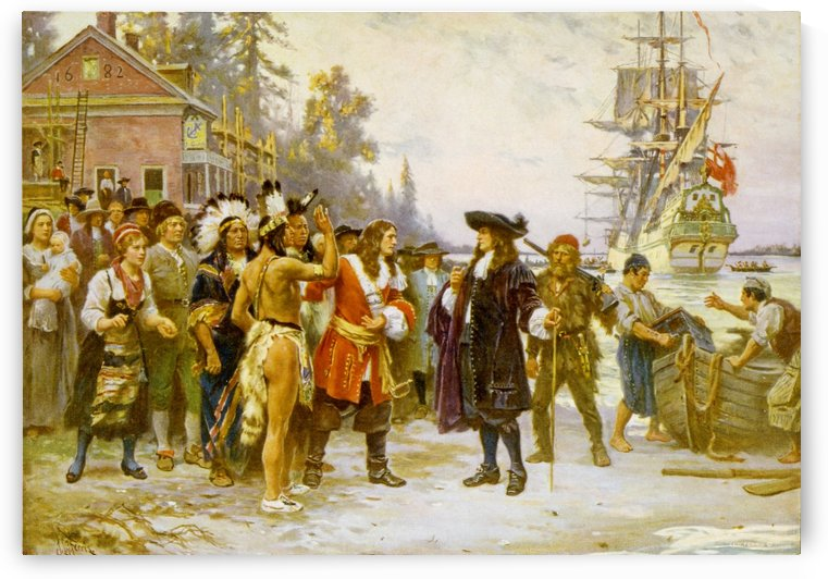 The Landing of William Penn by Jean-Leon Gerome