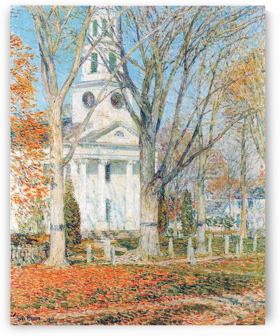 The Church of Old Lyme, Connecticut -1- by Hassam by Hassam