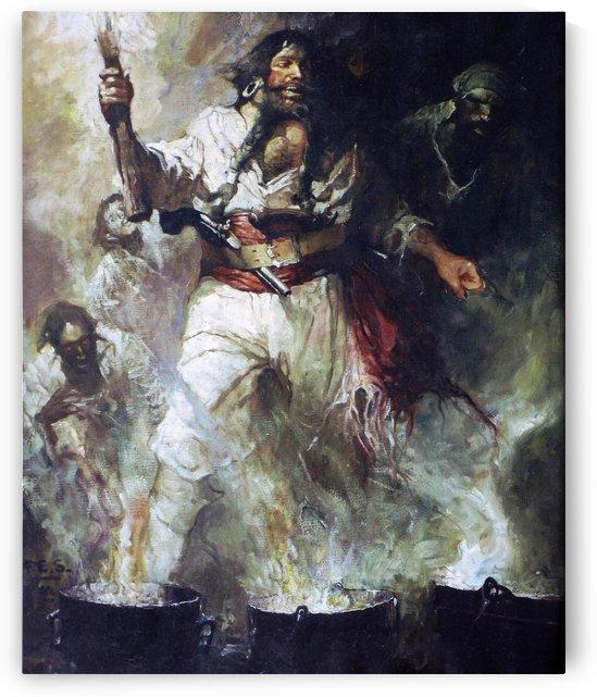 Blackbeard in Smoke and Flames by Jean-Leon Gerome
