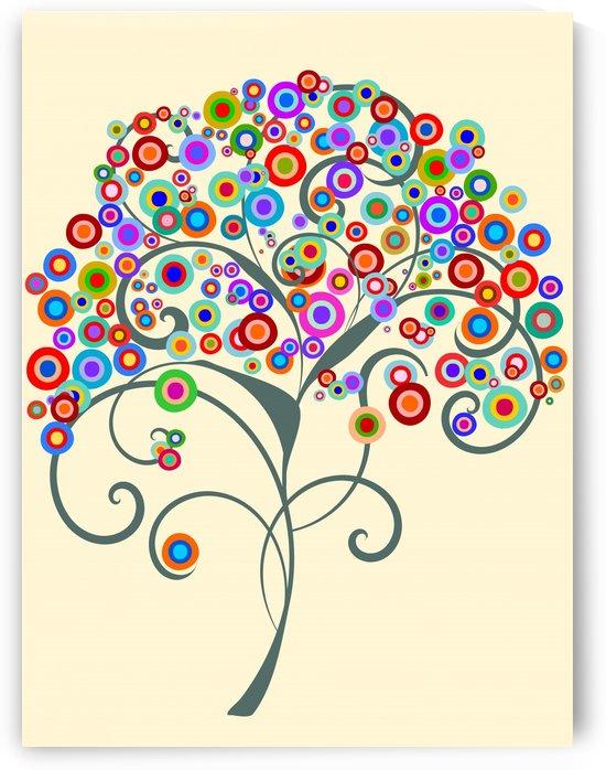 Cororful Tree by Angel Estevez