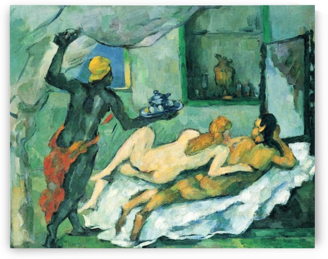 After lunch in Naples by Cezanne by Cezanne