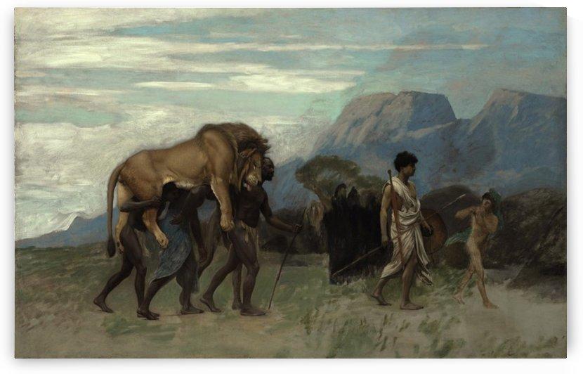 Hunters caravan by Jean-Leon Gerome