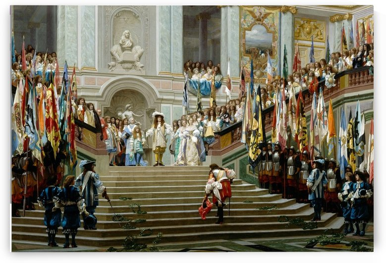 Reception at Versalles by Jean-Leon Gerome