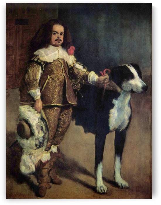Portrait of a Buffoon with a Dog by Diego Velazquez