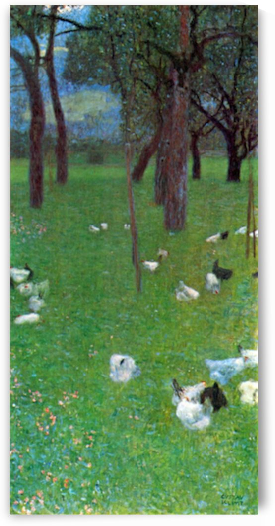 After the rain (garden with chickens in St. Agatha) by Klimt by Klimt