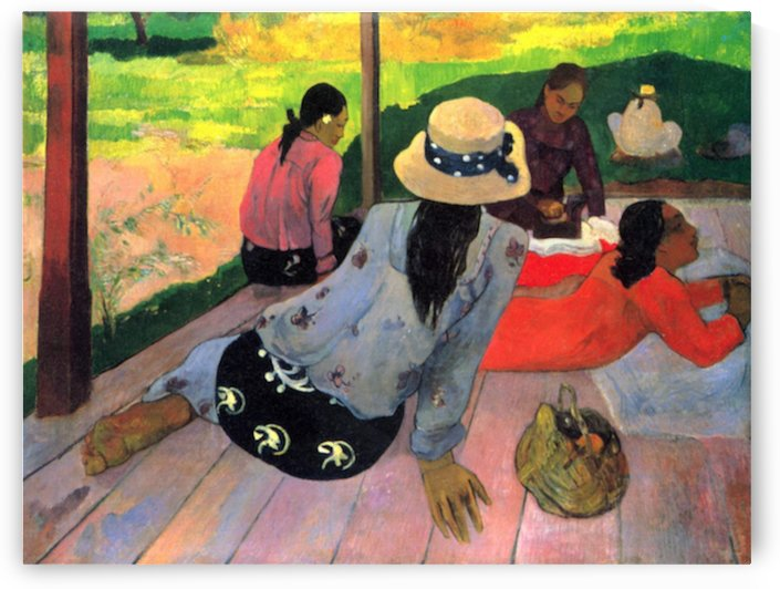 Afternoon Quiet Hour by Gauguin by Gauguin