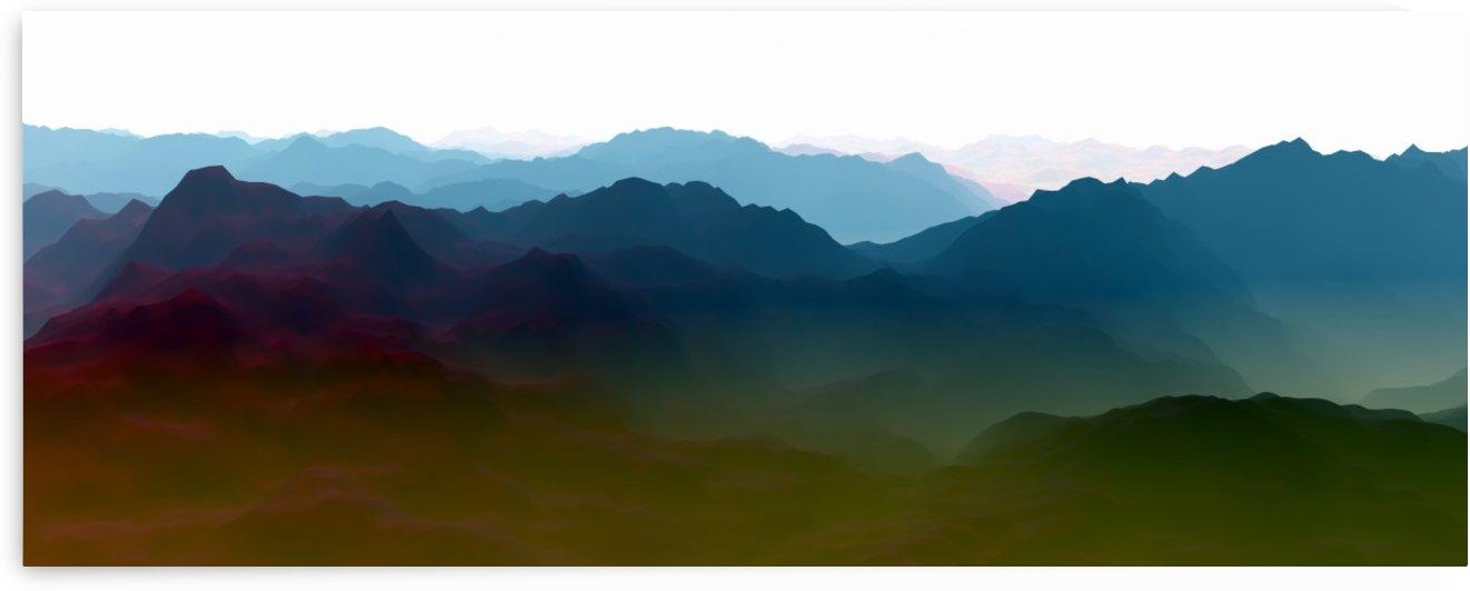 Mountainous Landscape 3 by Angel Estevez