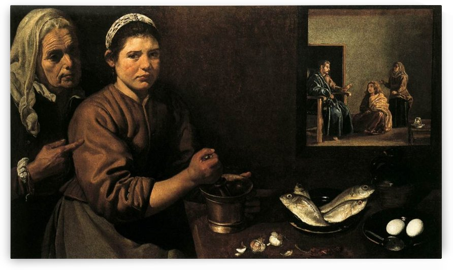 Christ in the House of Mary and Martha by Diego Velazquez