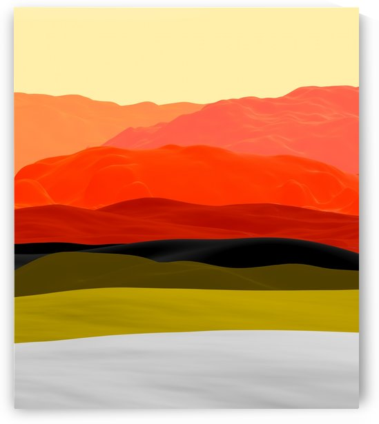 Mountains in Gradient by Angel Estevez