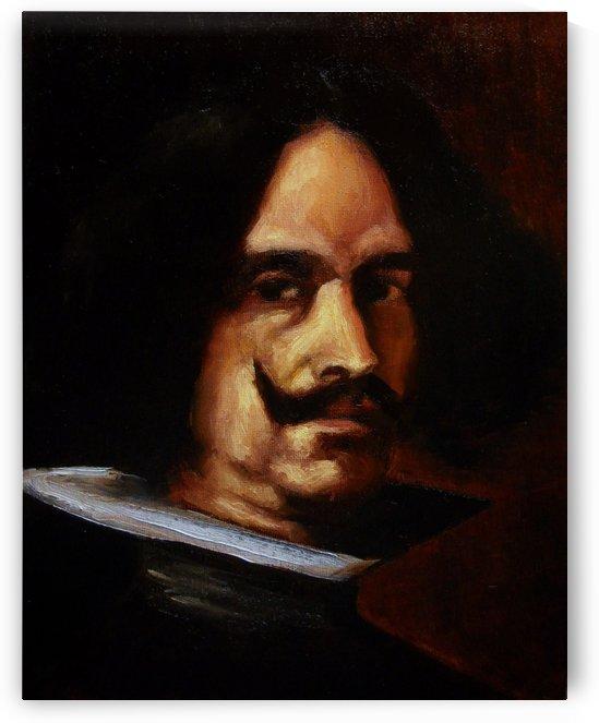 Self Portrait oil by Diego Velazquez