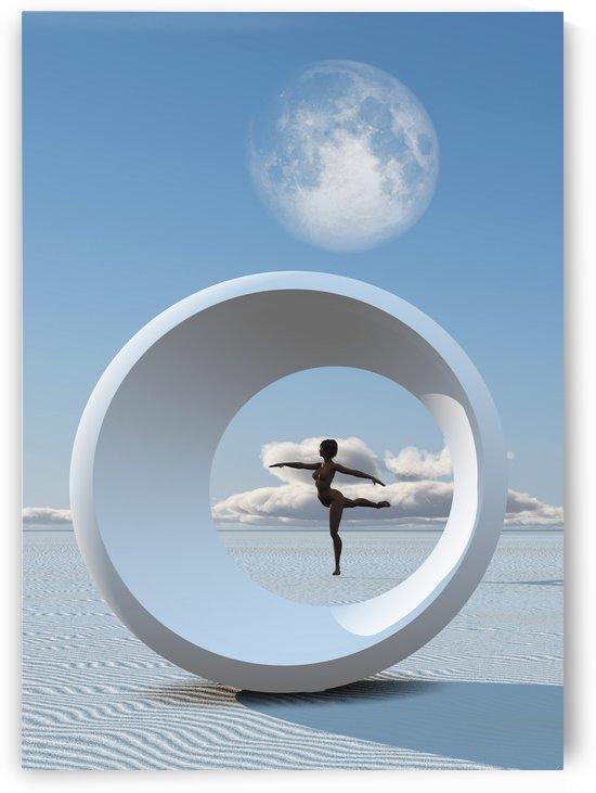 Woman Dances in Desert by Bruce Rolff