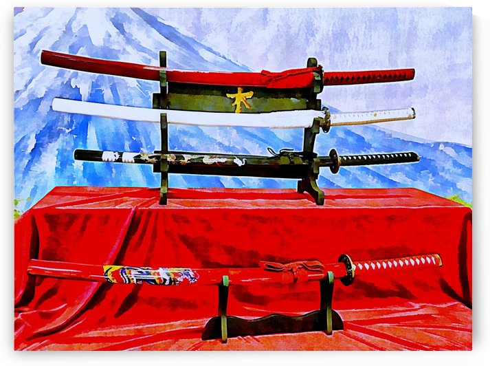Japanese Sword Display by Dorothy Berry-Lound