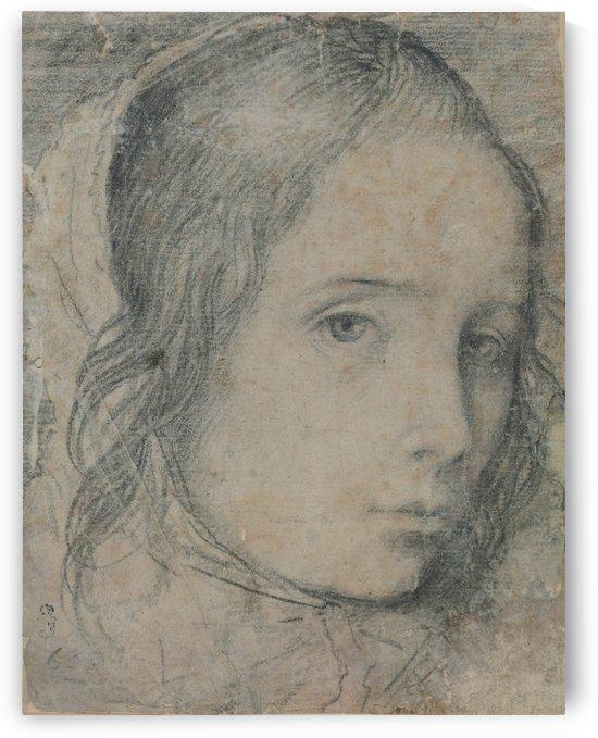 Portrait of beautiful lady by Diego Velazquez