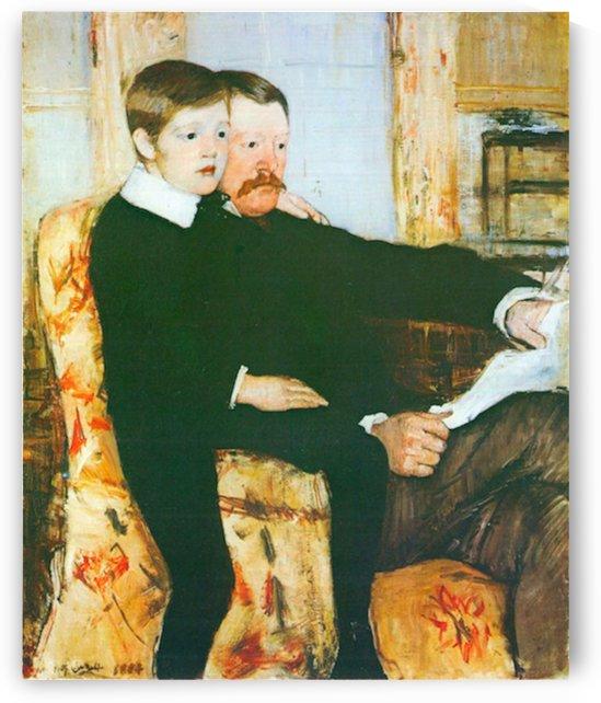 Alexander J. Cassat and son Robert Kelso Cassat by Cassatt by Cassatt