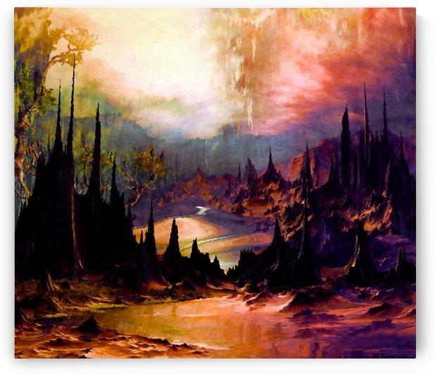 Outlandish peaks and valleys by Angel Estevez