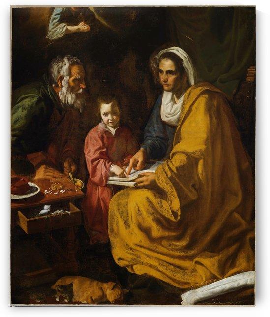 La educacion de la Virgen by Diego Velazquez