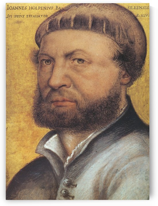 Hans Holbein self-portrait by Hans Holbein