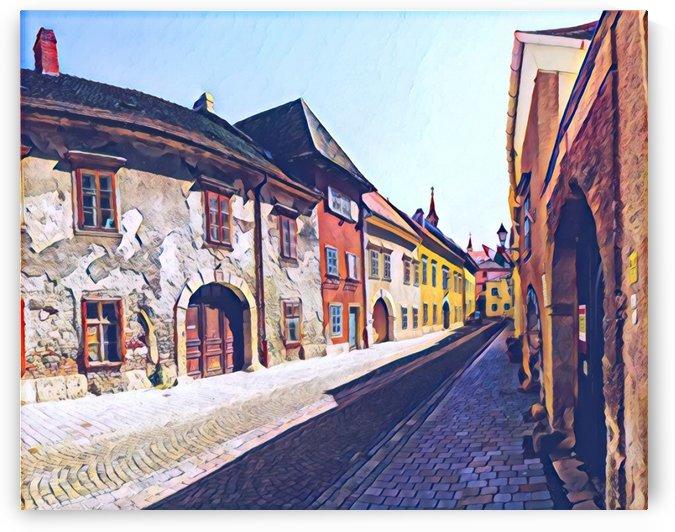 Jewish Street by Ferenc Lengyel
