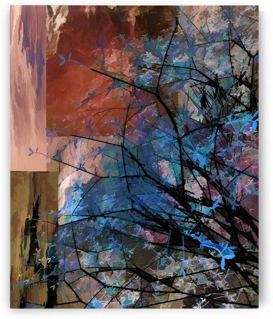 Blue Tree by Angel Estevez