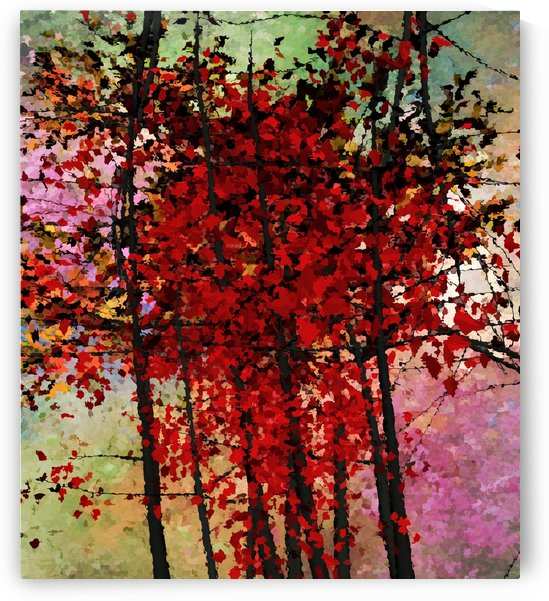 Red Trees by Angel Estevez