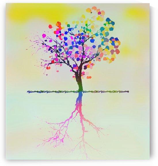 Colorful Tree 2 by Angel Estevez