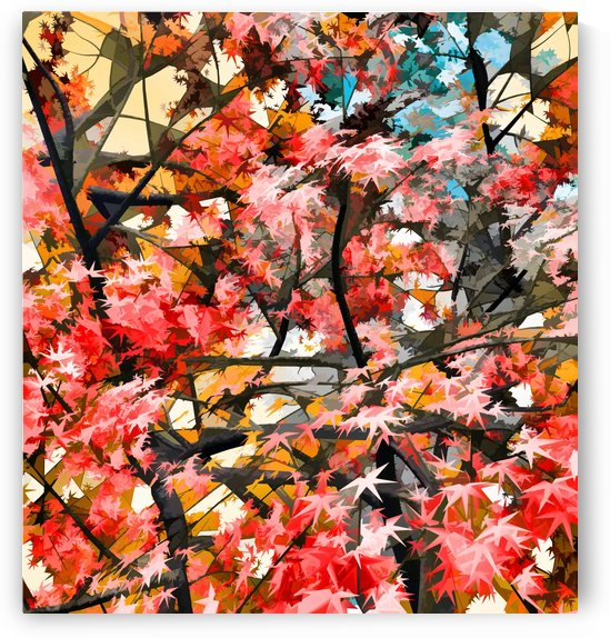 Autumnal Trees 4 by Angel Estevez