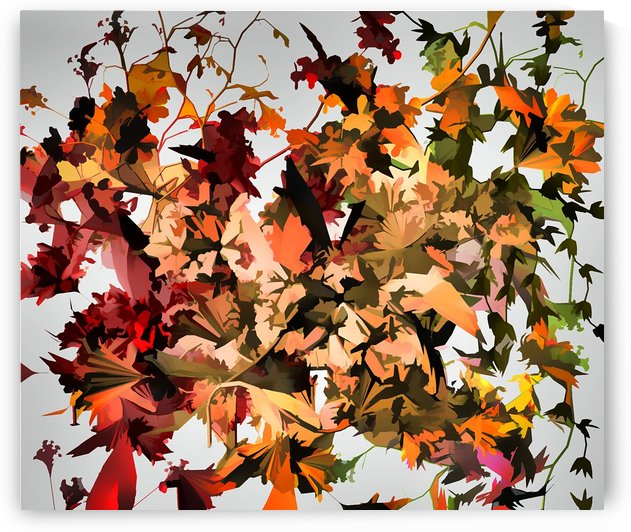 Autumnal Flowers by Angel Estevez