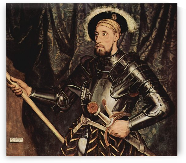 Portrait of a knight and his sword by Hans Holbein