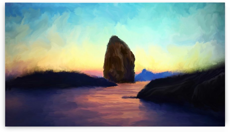 Oniric River by Angel Estevez