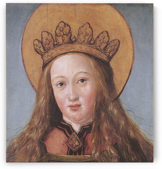 Head of a Female Saint by Hans Holbein