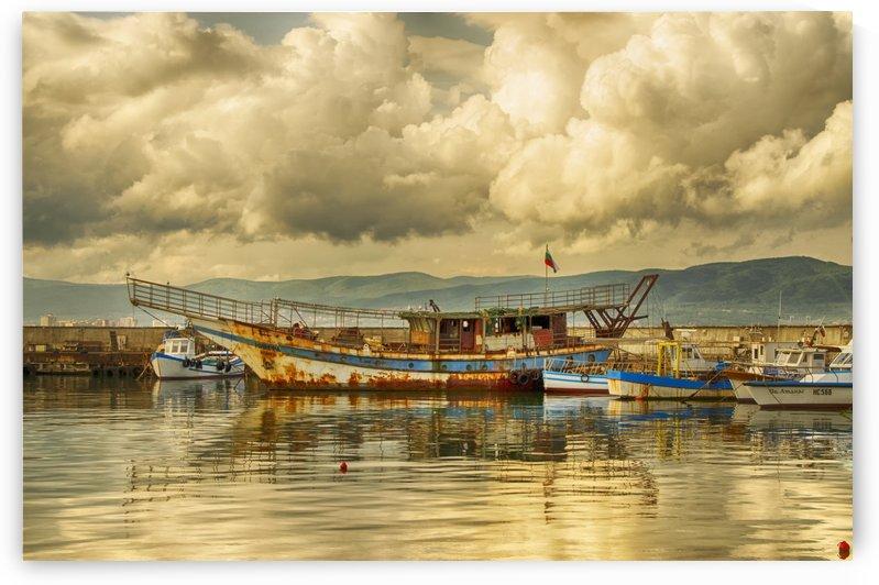 Black sea boat  by Jim Black