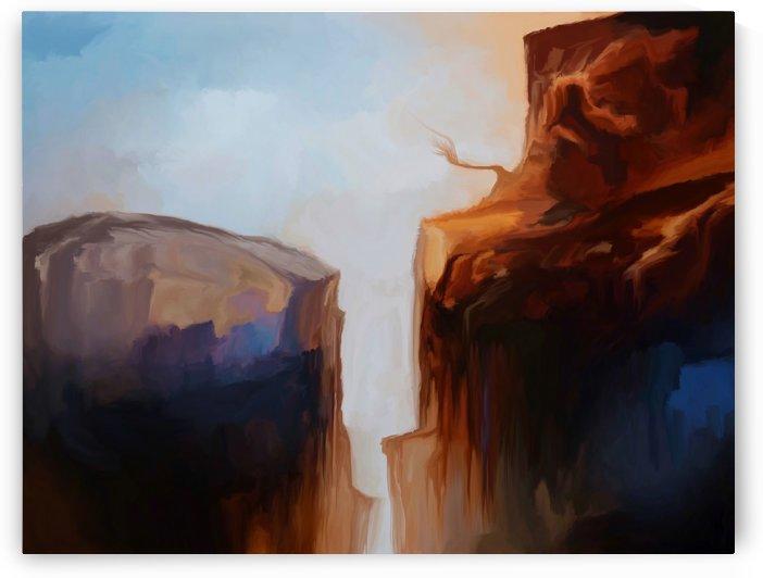 Sharp Cliffs by Angel Estevez
