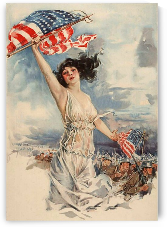 Vintage War Painting by Smithson