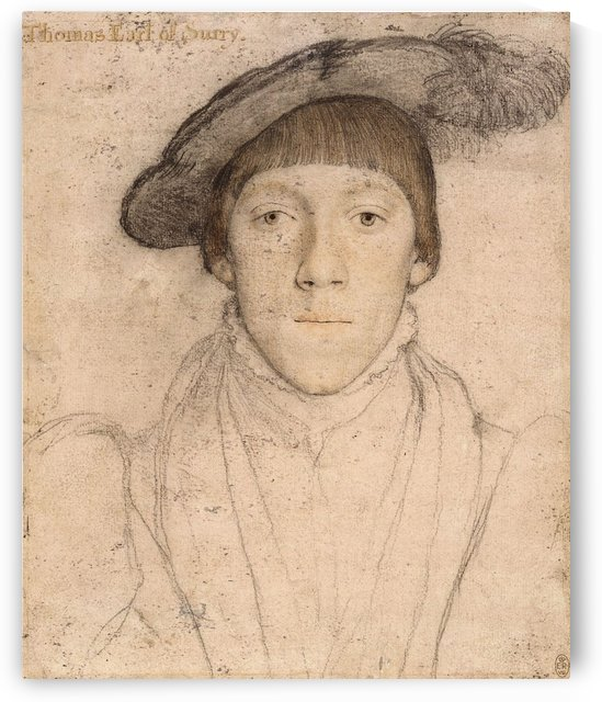 Portrait of Thomas Earl of Surry by Hans Holbein