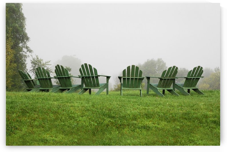 Foggy Morning in Vermont by Lee Fortier