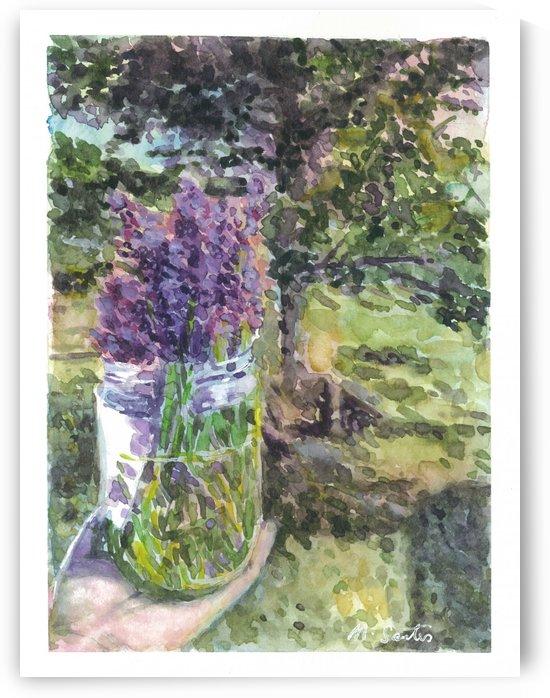 Lavender Bouquet by Marie Santos - M Santos Art