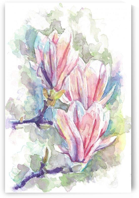 Magnolias by Marie Santos - M Santos Art