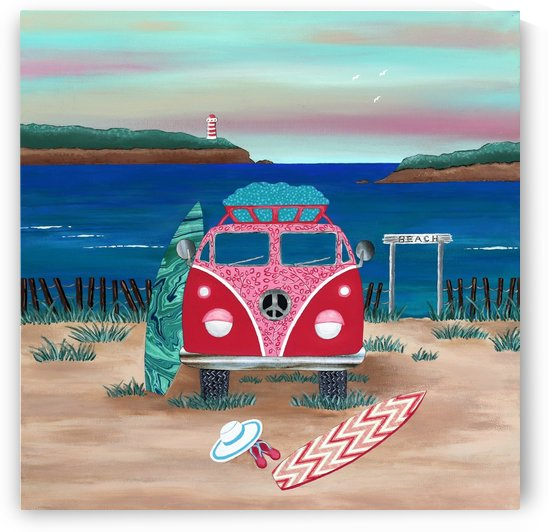 Hippy Van Road Trip by Lisa Frances Judd
