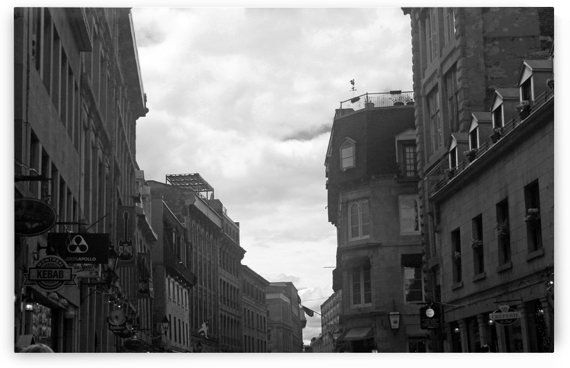Cloudy Montreal B&W by Gods Eye Candy