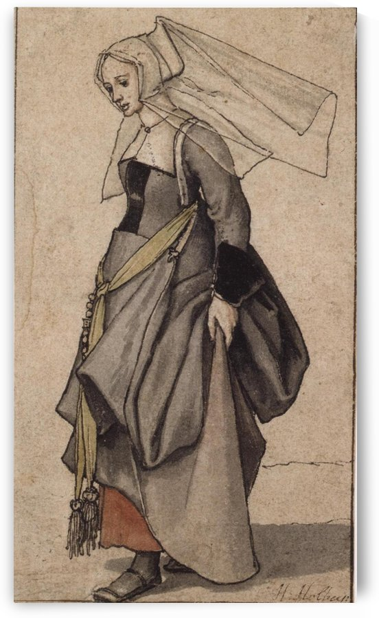 Young English woman by Hans Holbein