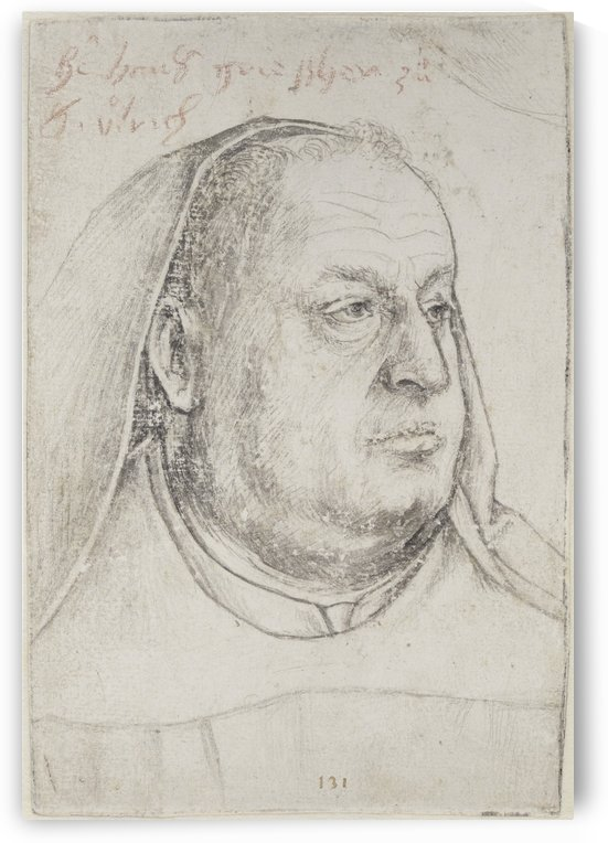 St. Ulrich and Afra monk Hans Grieshe by Hans Holbein